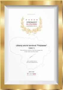 poliplastas sertifikatas